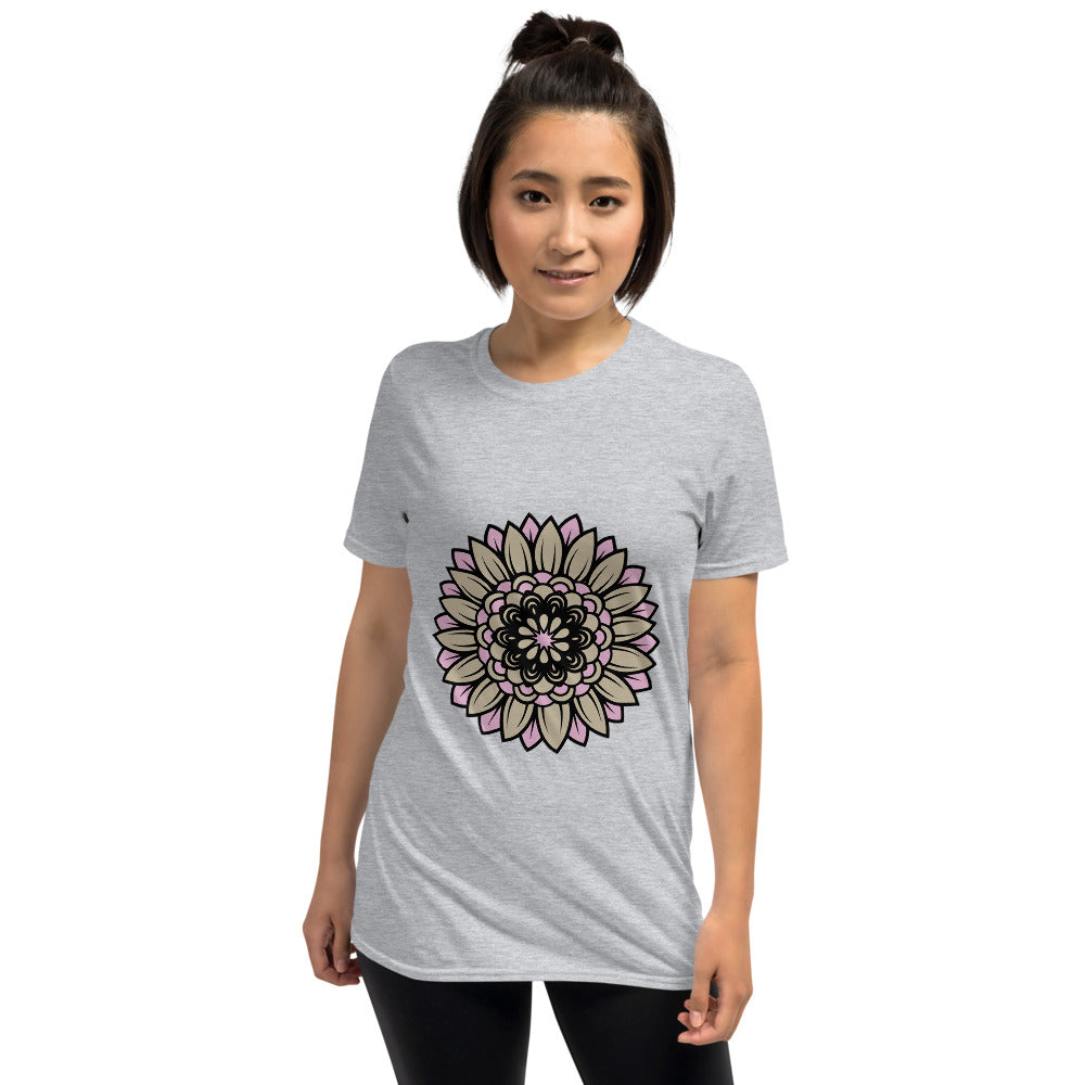 Nude Pink Flower Short-Sleeve Unisex T-Shirt