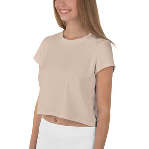 Nude All-Over Print Crop Tee