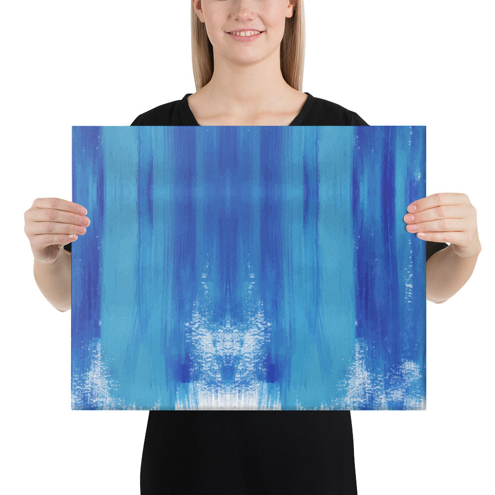 Blue Brush Stokes Canvas