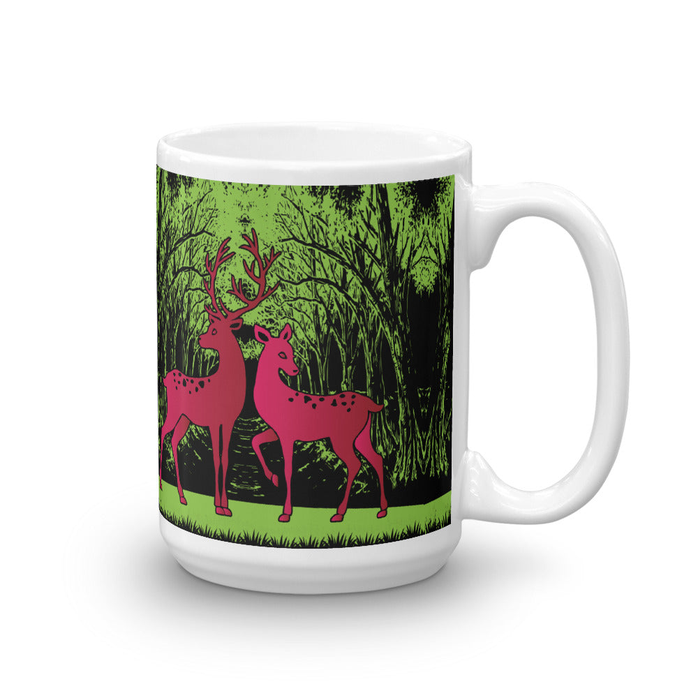 Coffee Mug with Picture of Wild Deer