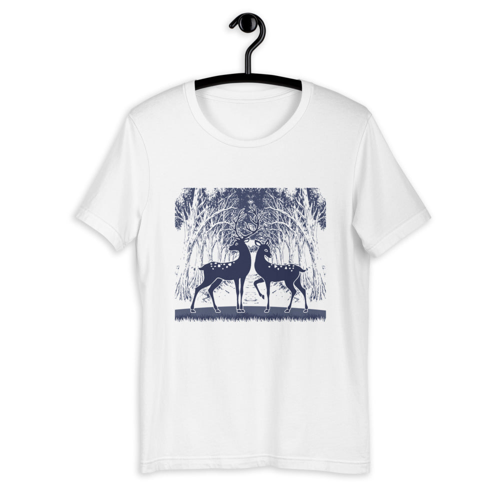 Forest Deer Holiday T-Shirt for Men