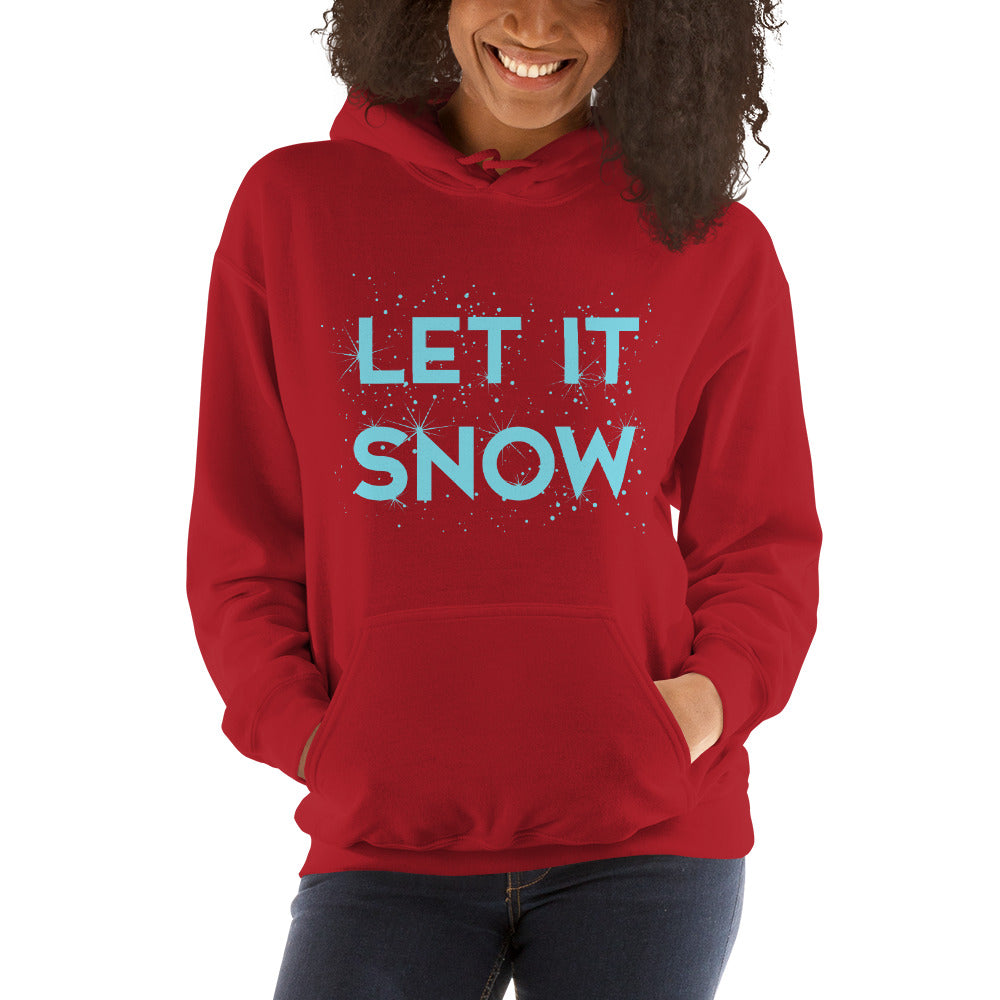 Let It Snow Women's Hoodie Pullover red