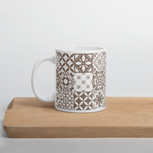 Nude and White Ethnic Coffee Mug