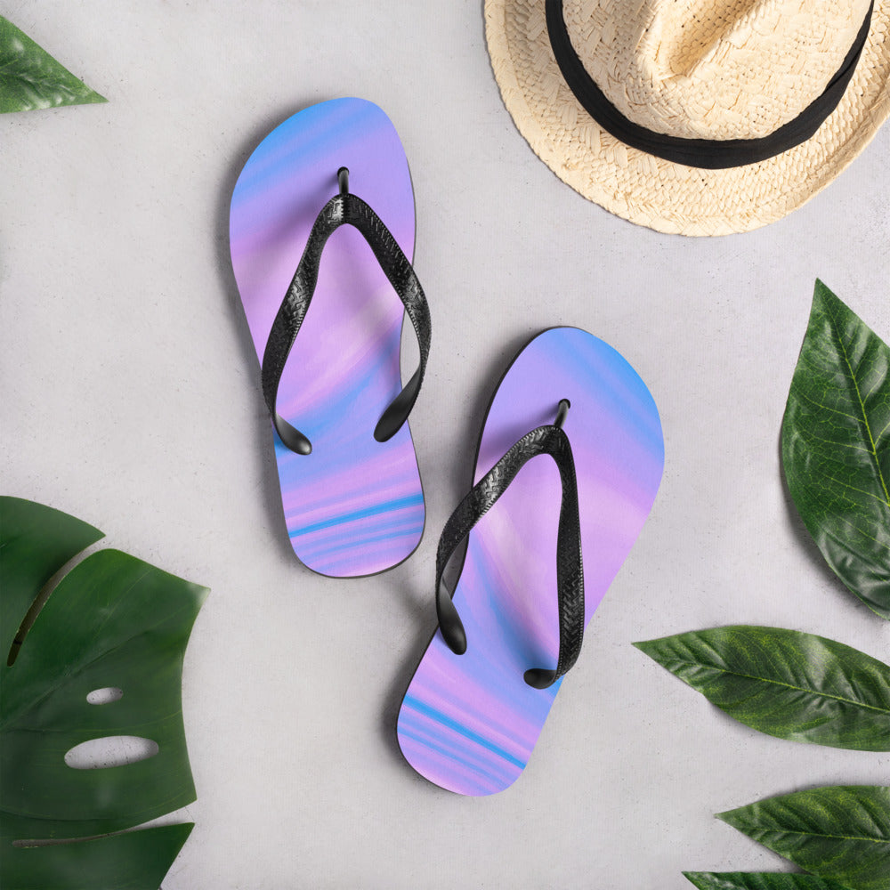 Purple and Blue Flip-Flops