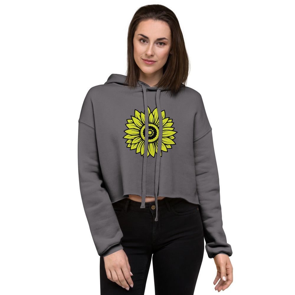 Cute Sunflower Crop Hoodie