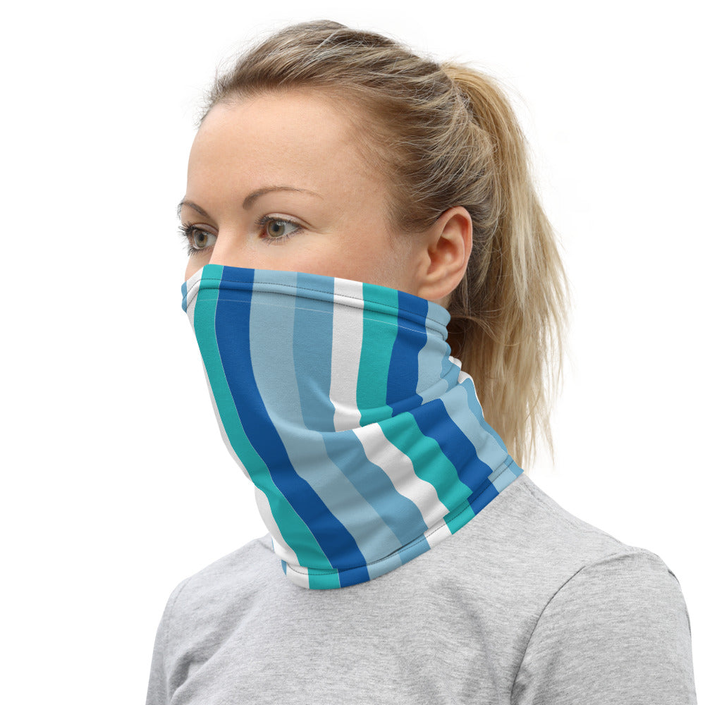 Colorful Striped Fabric Face Covering
