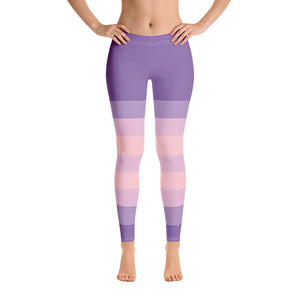 Purple Pink Stripe Leggings