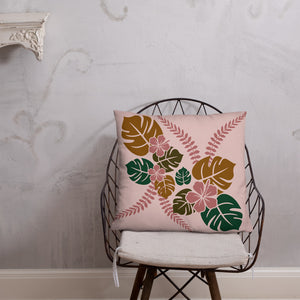 Tropical Floral Basic Throw Pillow