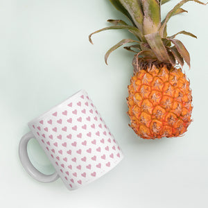 Pink Heart Coffee Mug