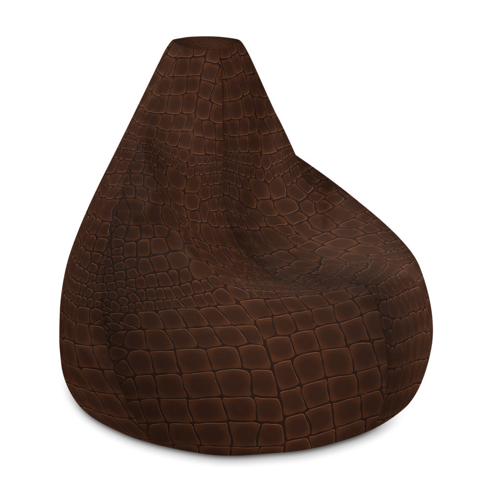 Leather Print Bean Bag Chair w/ filling
