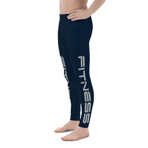 Dark Blue Men's Leggings