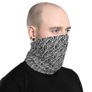 Black White Floral Neck Gaiter Face Mask