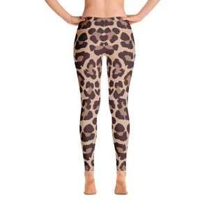 Leopard print workout leggings Back
