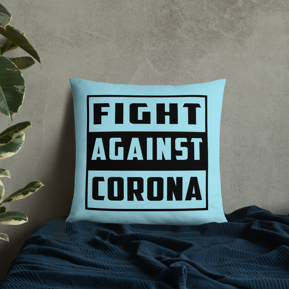 Fight Against Corona Throw Pillow