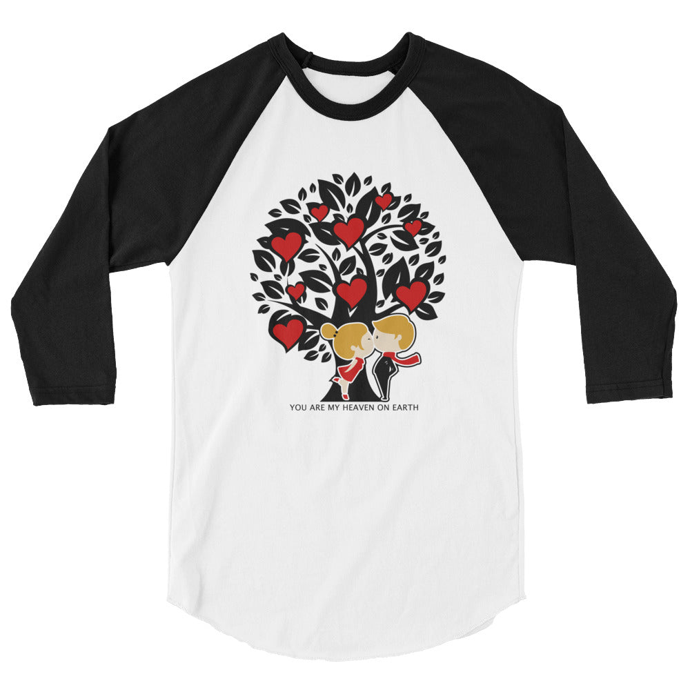 Tree Couple Valentine's 3/4 Sleeve Raglan Shirt