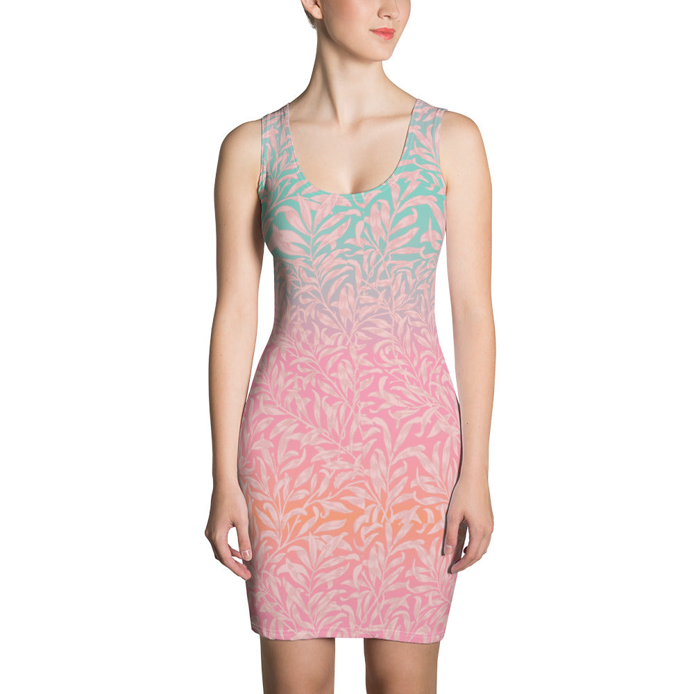 Spring Seamless Pattern Multi color Dress