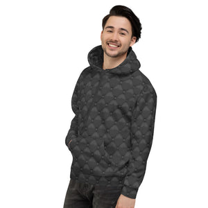 Black Leather Hoodie Mens