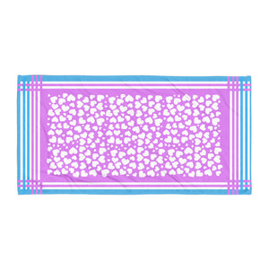 Heart Abstract Printed Super Soft Towel