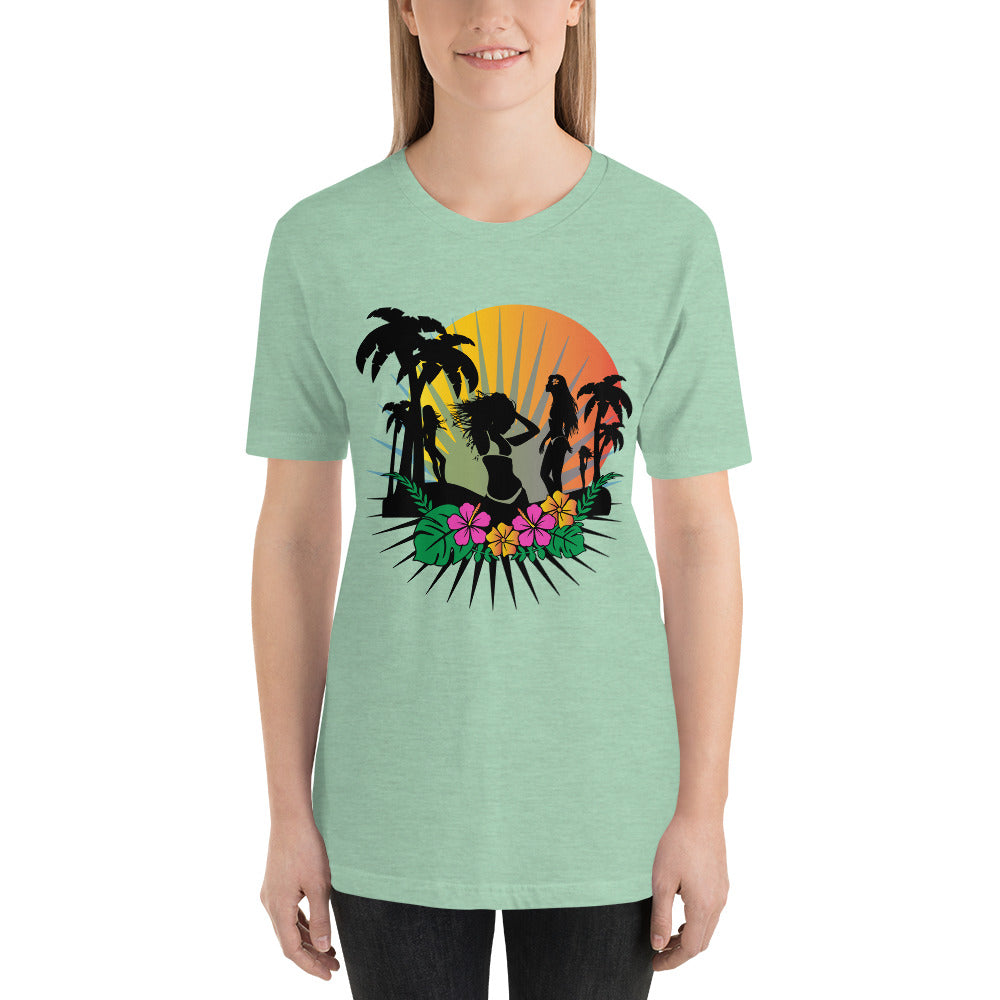 Tropical Beach T-Shirt for Women