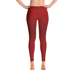 Red Leather Print Leggings