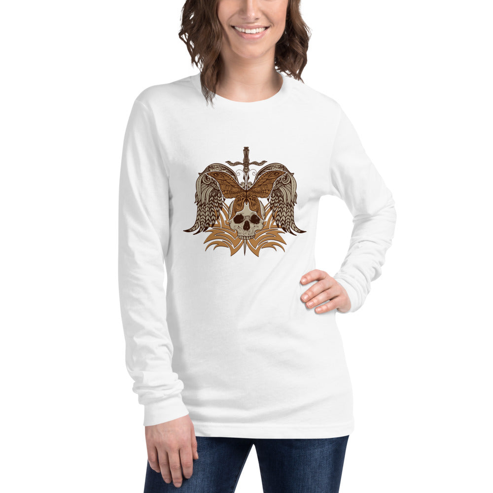 Skull Long Sleeve T-Shirt for Women