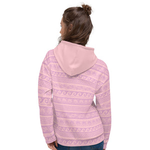 Pink Abstract Pattern Unisex Hoodie