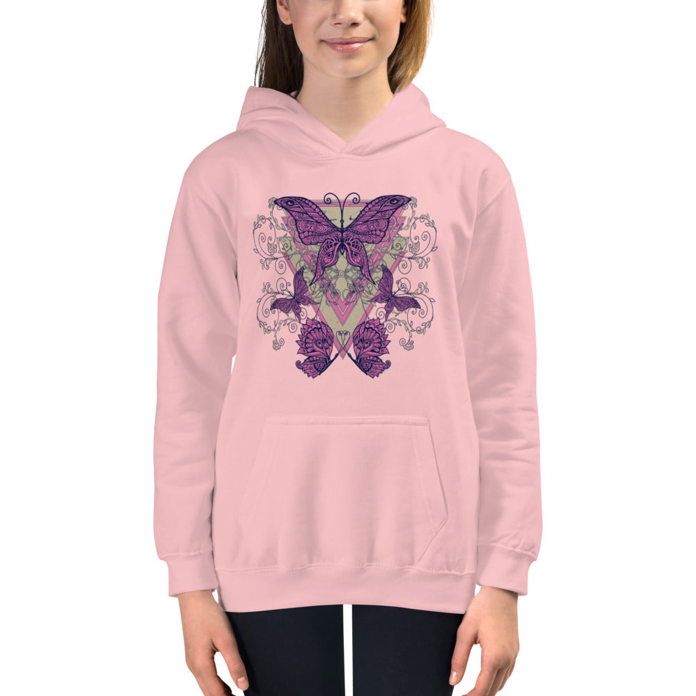 Pink Butterfly Hoodie for Girls