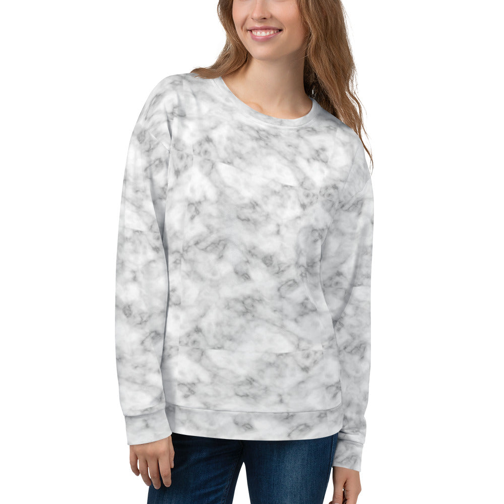 Marble Print Sweatshirt for Women
