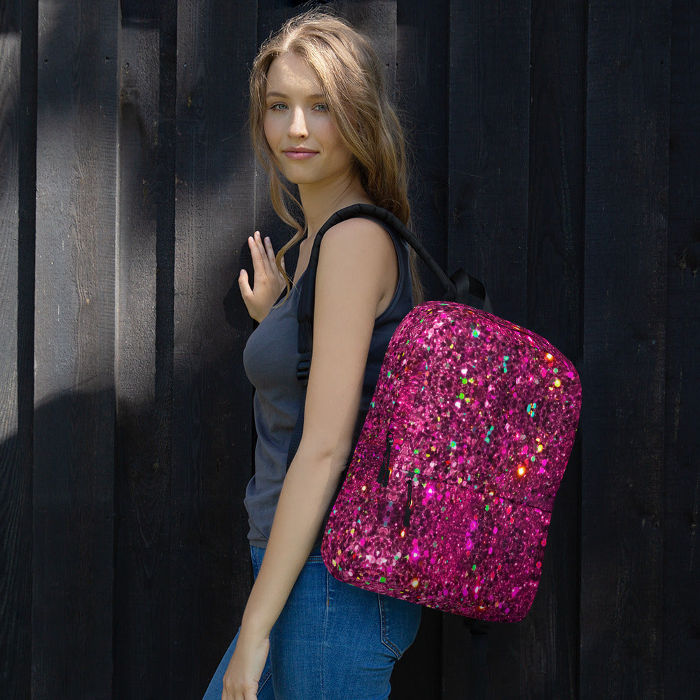 Hot Pink Glittery Backpack
