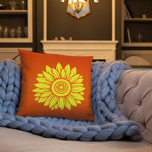 Sunflower Oranger Throw Pillows