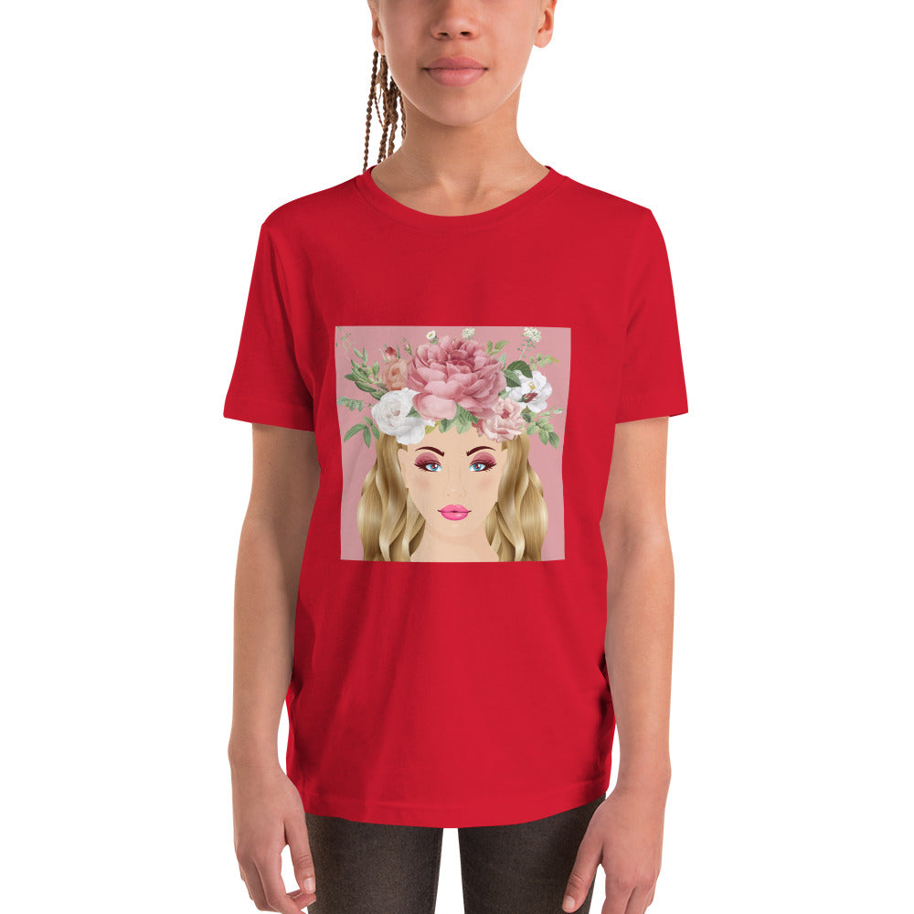 Rose Fairy Red T-Shirt for Girls