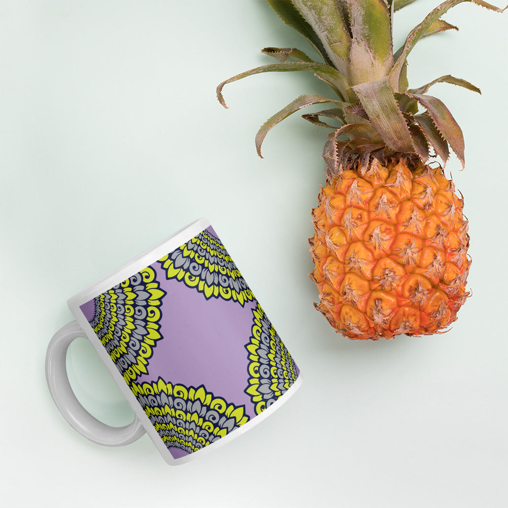 Yellow Mandala Coffee Mug