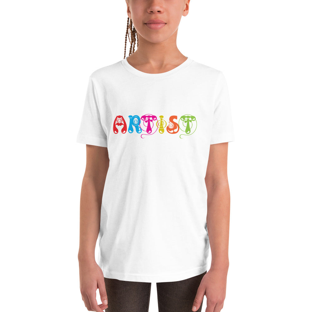 Artist White T-Shirt for Girls