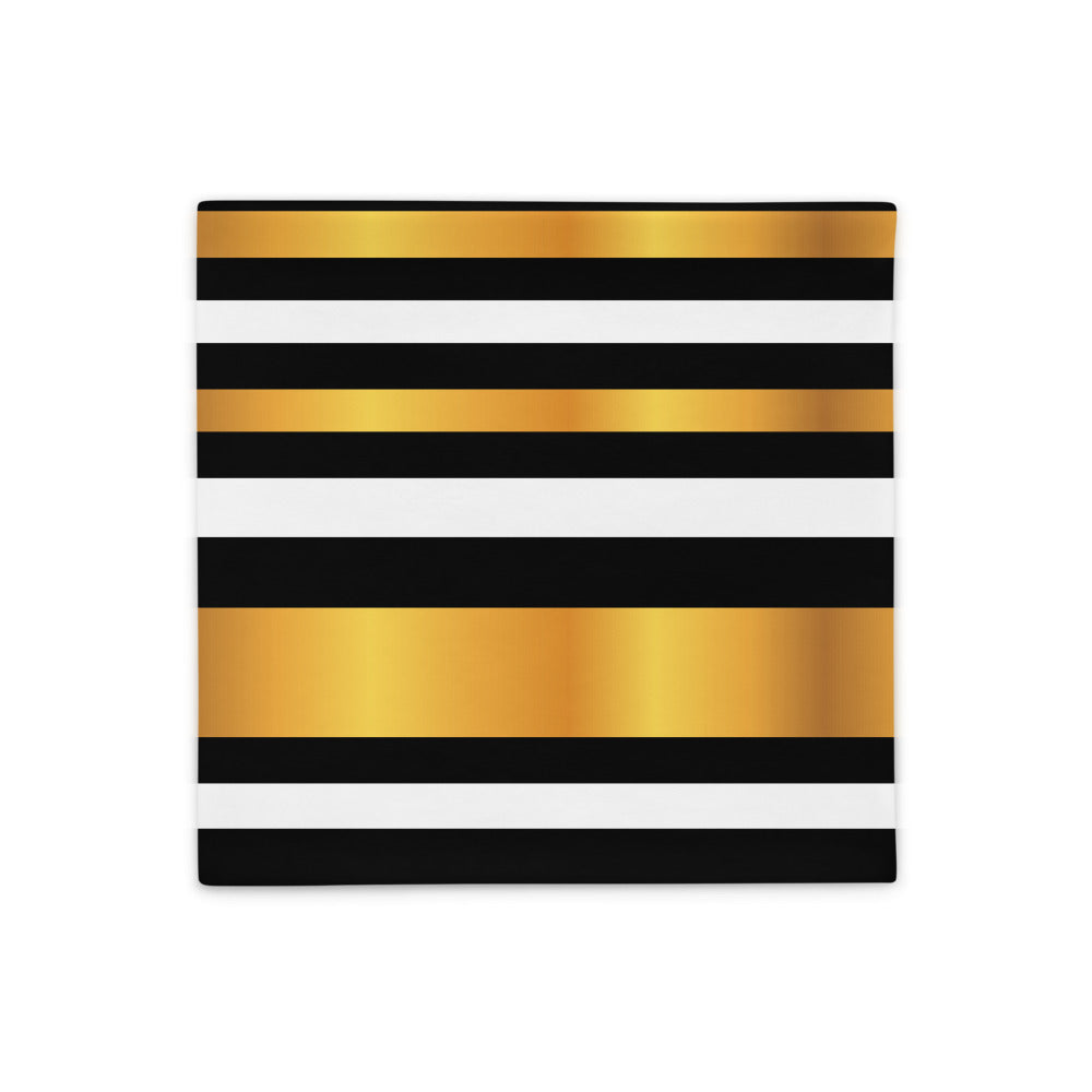 Gold and Black Luxury Pillow Case