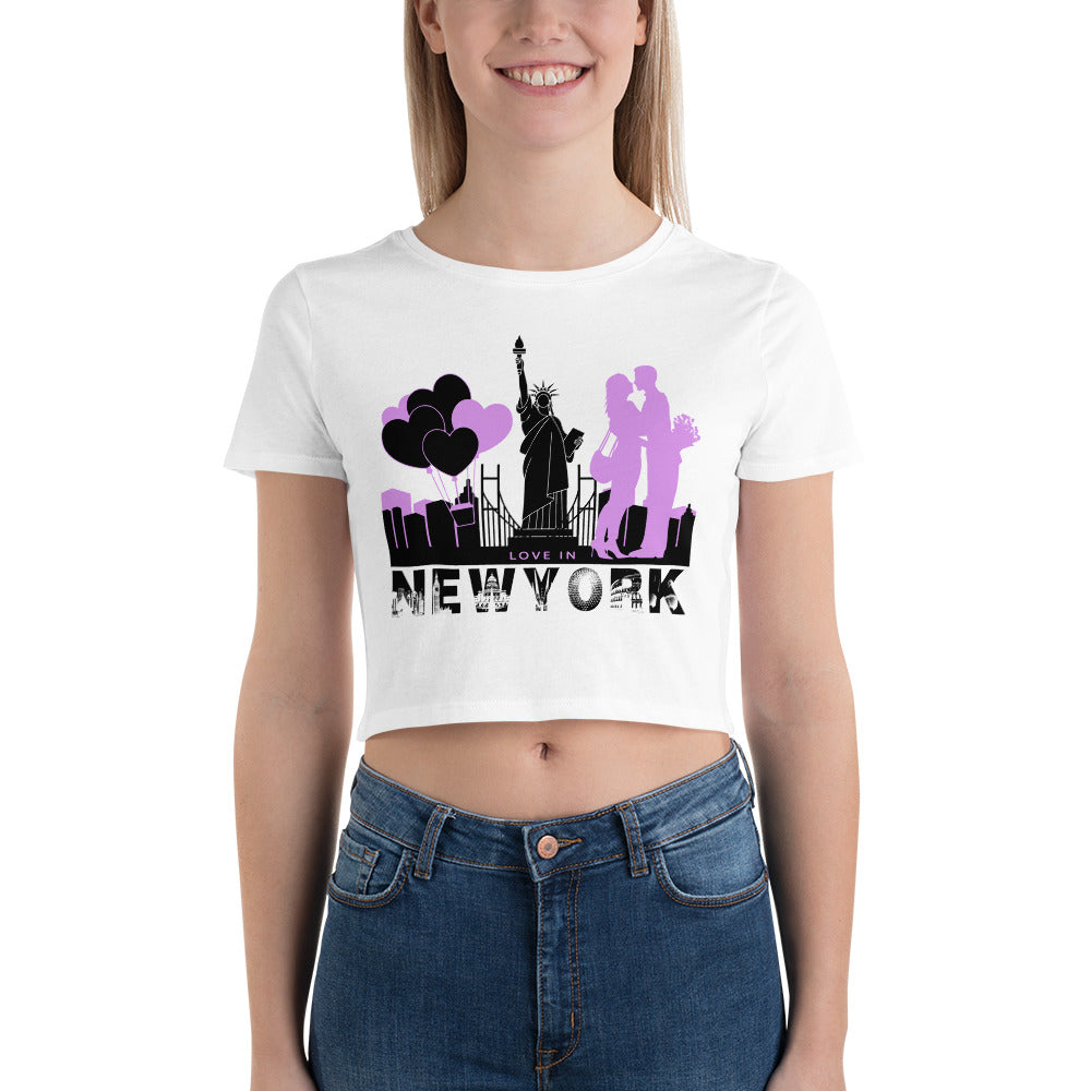 New York Crop Top T-Shirt for Valentines Day