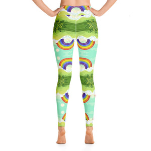 Rainbow Forest Yoga Leggings