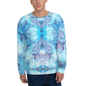 Ocean Blue and Purple Unisex Sweatshirt