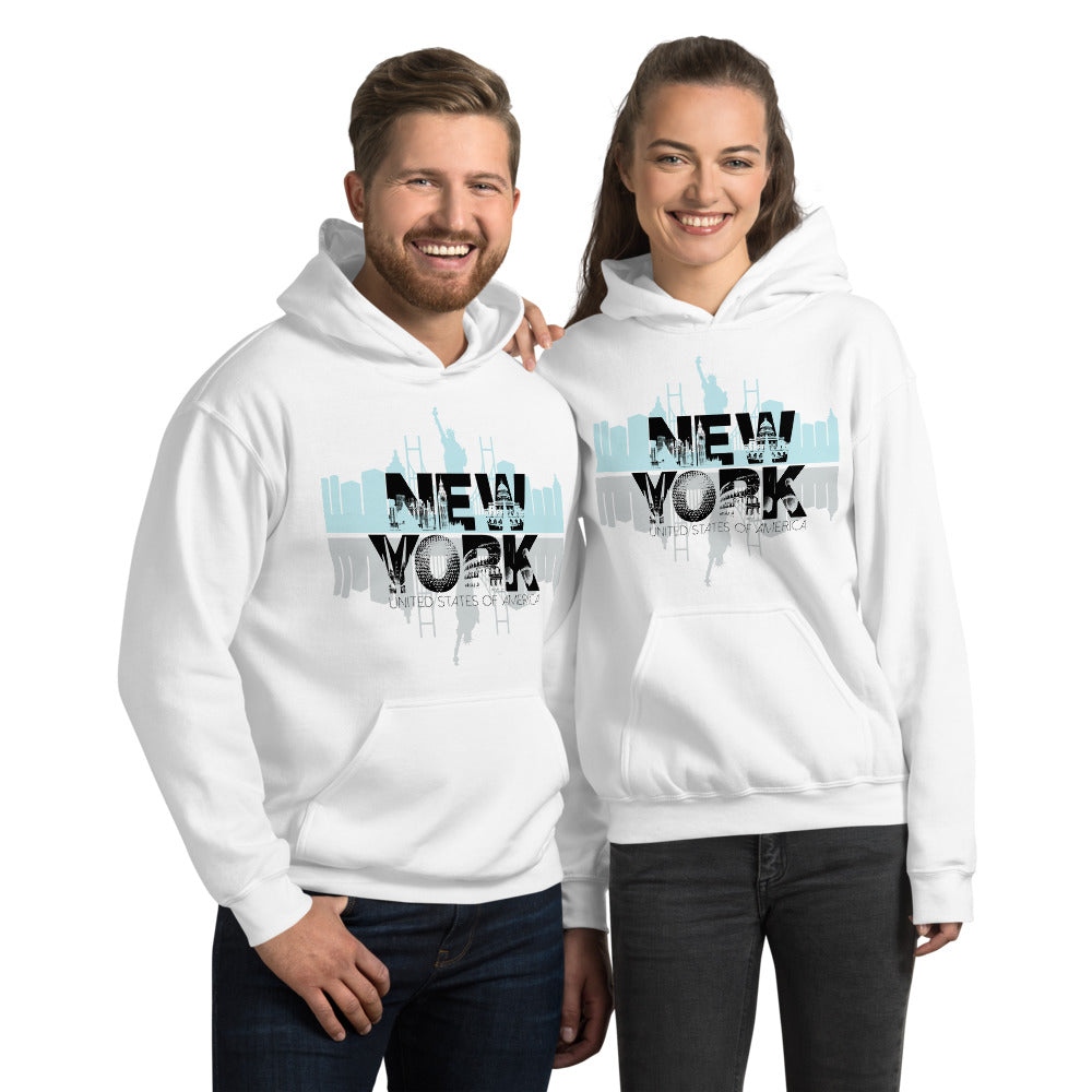 New York White Hoodie for Men