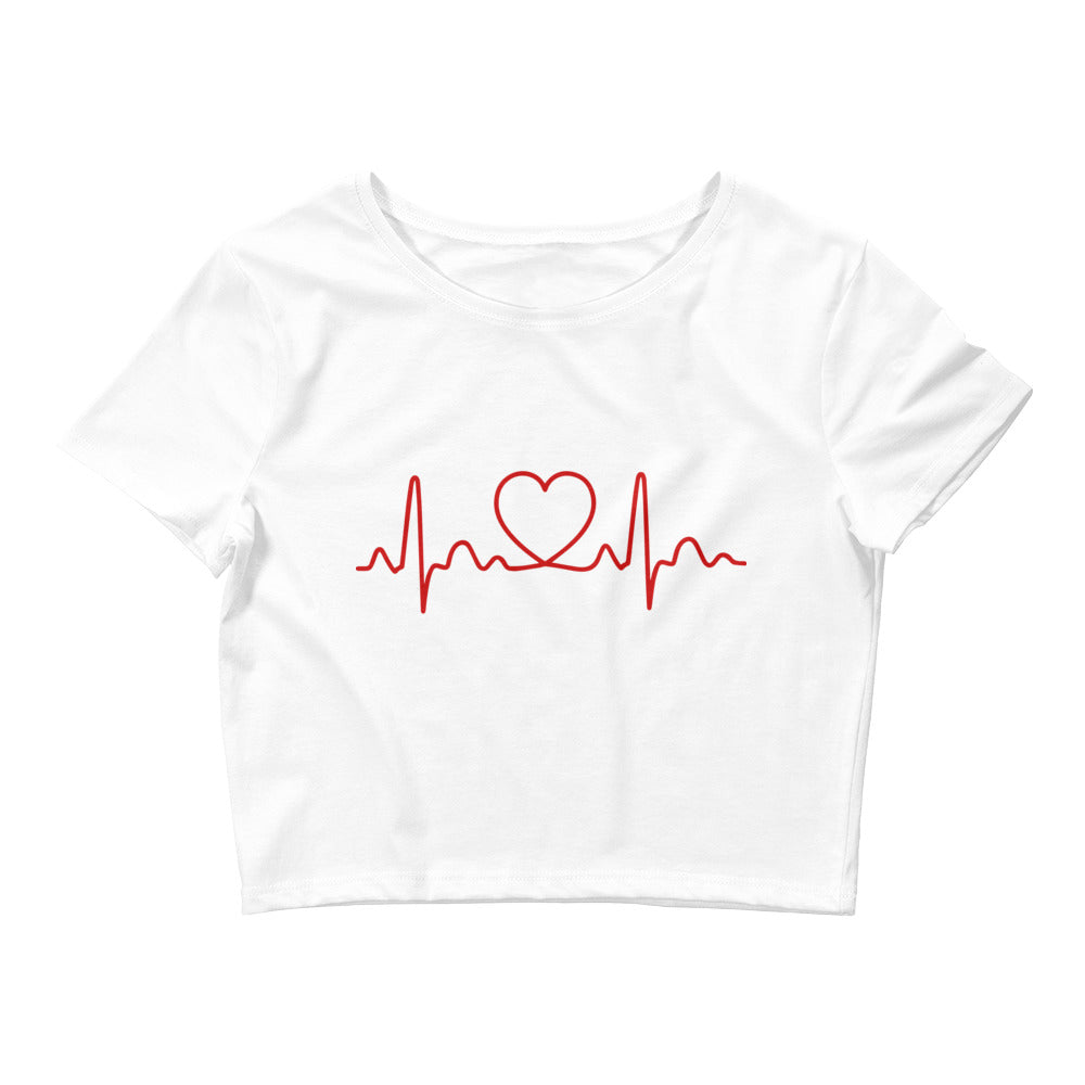 Heart Beat Crop Top for Valentine's Day