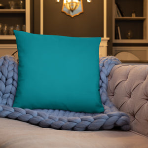 Ocean Blue Color Throw Pillow