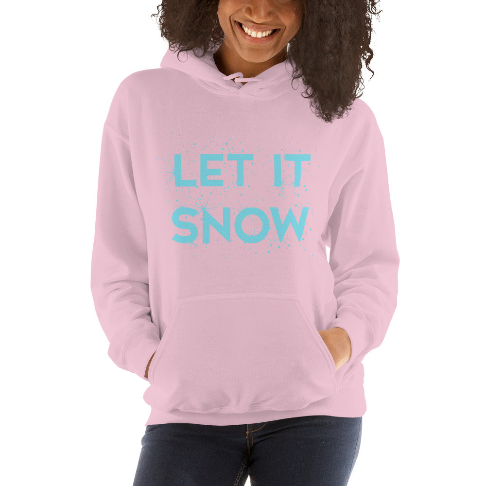 Let It Snow Women's Hoodie Pullover pink