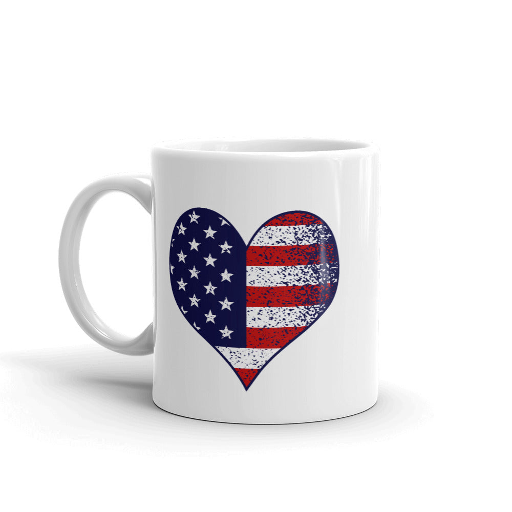 Love America US Flag Printed Coffee Mug