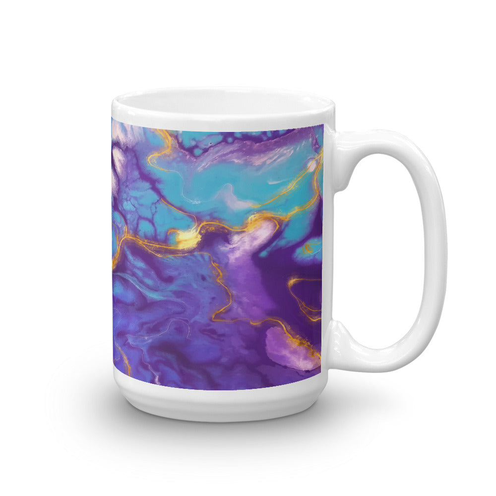 Aqua Color Seamless Pattern Marble Coffee Mug