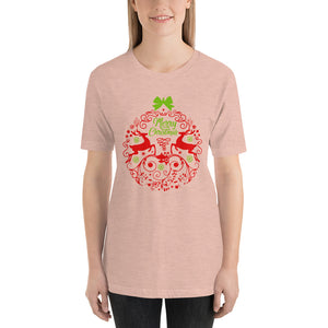 Merry Christmas Reindeer Ball T-Shirt for Women