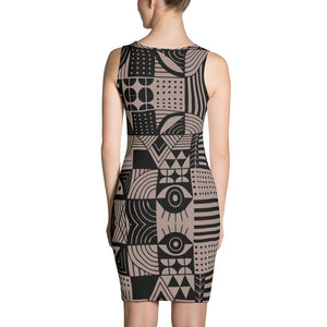 Black and Nude Sublimation Cut & Sew Dress