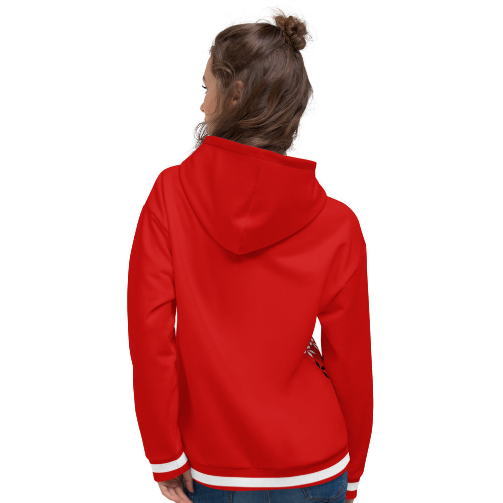 Red White and Black Christmas Unisex Hoodie