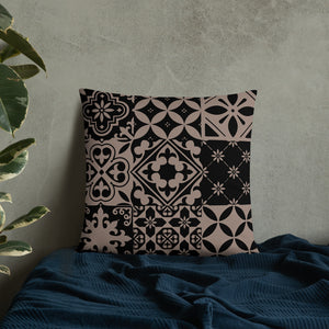 Black and Brown Throw Pillow