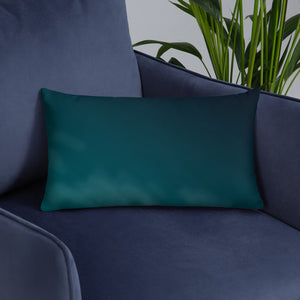 Blue Abstract Throw Pillows
