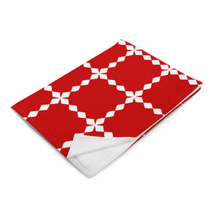 Red and White Christmas Throw Blanket