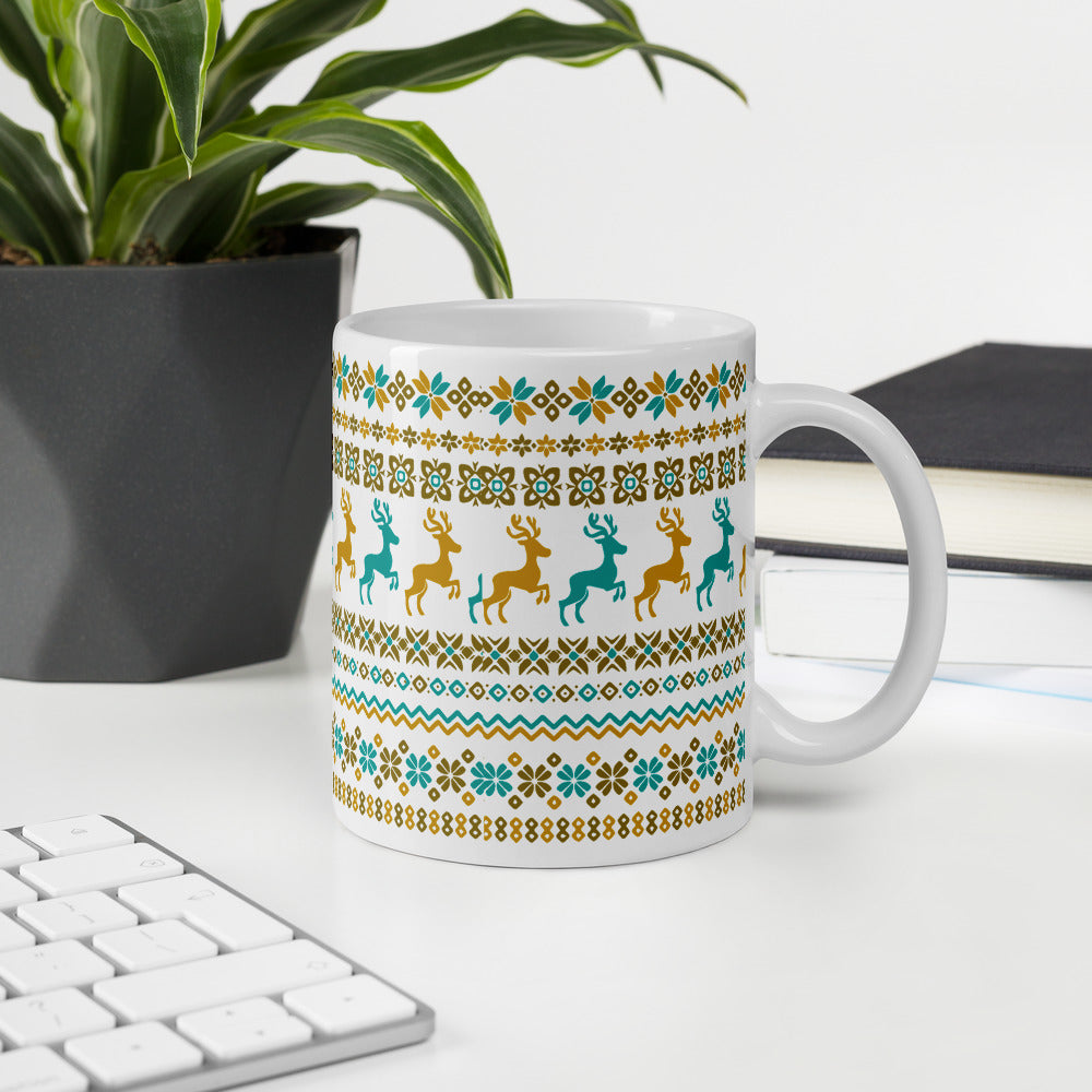 Christmas Coffee Mugs with Reindeer